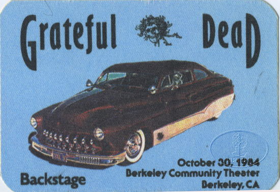 GRATEFUL DEAD 10/30/84 BACKSTAGE PASS Berkeley Community Theater