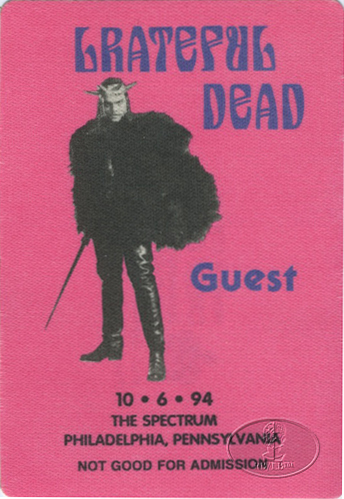 GRATEFUL DEAD 10/6/94 BACKSTAGE PASS Philadelphia
