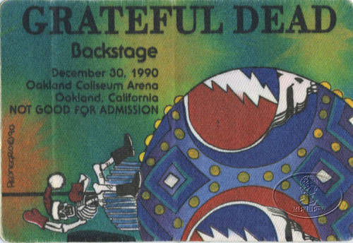 GRATEFUL DEAD 12/30/90 BACKSTAGE PASS Oakland
