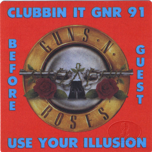 Guns n' Roses 1991 Clubbin' It Backstage Pass Rare!