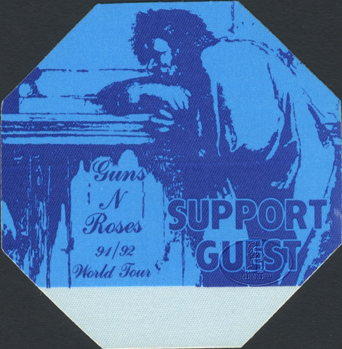 Guns n' Roses 1991-92 Backstage Pass Guest Blue