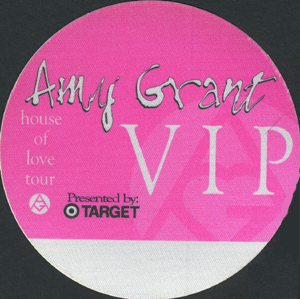 AMY GRANT 1994 HOUSE OF LOVE TOUR Backstage Pass