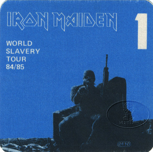 IRON MAIDEN 1984/85 SLAVERY TOUR Backstage Pass blue 1