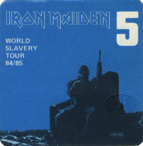 IRON MAIDEN 1984/85 SLAVERY TOUR Backstage Pass blue 5