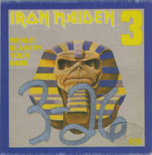 IRON MAIDEN 1984-85 SLAVERY TOUR Backstage Pass