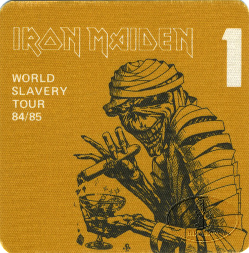 IRON MAIDEN 1984/85 SLAVERY TOUR Backstage Pass gold 1