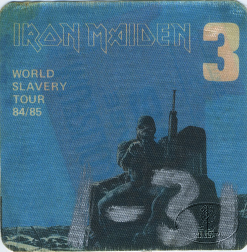 IRON MAIDEN 1984/85 SLAVERY TOUR Backstage Pass blue 3