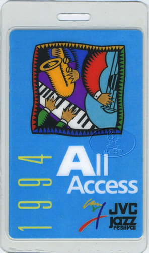 BUDDY GUY JOHN MAYALL JVC JAZZ FEST 1994 LAMINATED BACKSTAGE PASS McCoy Tyner