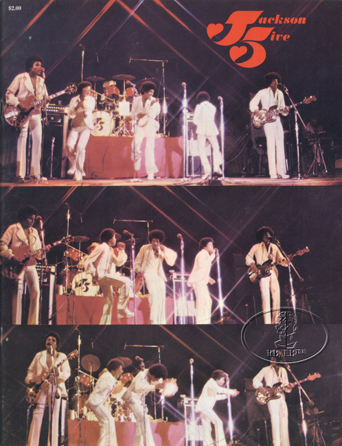 JACKSON 5 1972 TOUR Concert Program Programme Book Michael Jackson