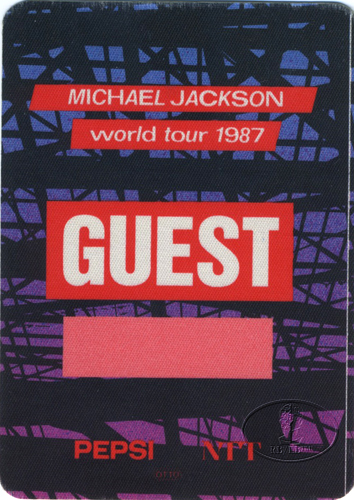 MICHAEL JACKSON 1987 BAD TOUR Backstage Pass Guest USA