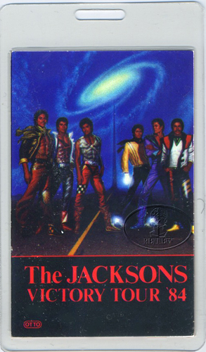 THE JACKSONS 1984 LAMINATED BACKSTAGE PASS Michael Jackson