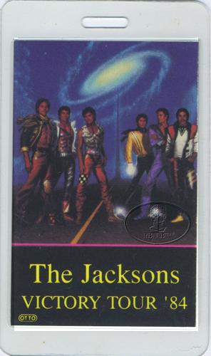 The Jacksons 1984 Laminated Backstage Pass Staff Michael