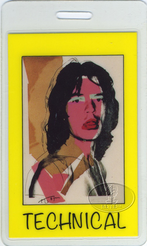 MICK JAGGER 1988 JAPAN LAMINATED BACKSTAGE PASS ROLLING STONES Andy Warhol