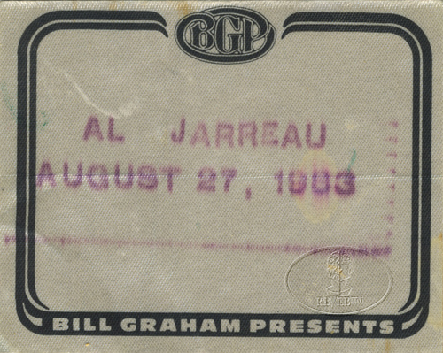 AL JARREAU 1983 TOUR BACKSTAGE PASS