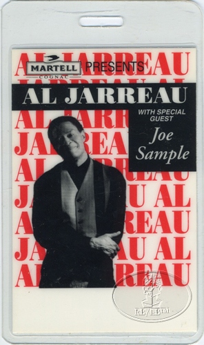 AL JARREAU & JOE SAMPLE 1993 LAMINATED BACKSTAGE PASS
