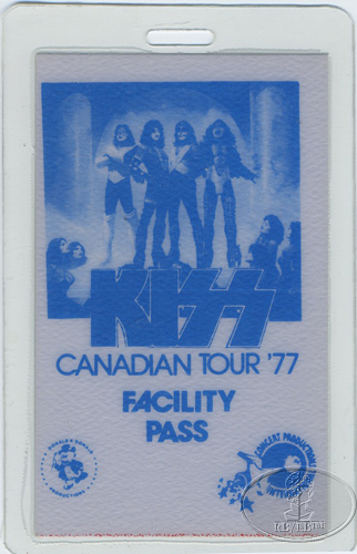 KISS 1977 LOVE GUN CANADA TOUR LAMINATED BACKSTAGE PASS