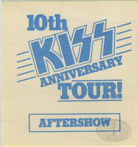 KISS 1982 10th ANNIVERSARY TOUR Backstage Pass