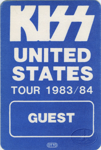 KISS 1983 U.S. TOUR Backstage Pass GENE SIMMONS