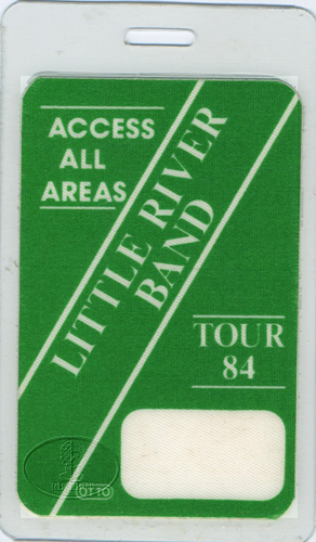 LITTLE RIVER BAND 1984 LAMINATED BACKSTAGE PASS
