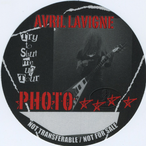 AVRIL LAVIGNE 2003 SHUT UP TOUR BACKSTAGE PASS