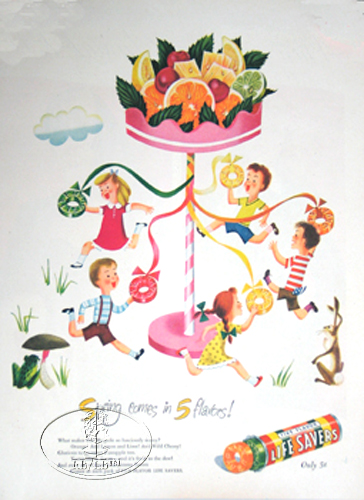 "LIFE SAVER ADVERTISEMENT ""SPRING"" CANDY ADVERT AD"