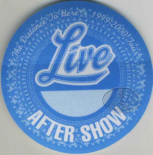 LIVE 1999 DISTANCE TO HERE Backstage Pass ASO blue