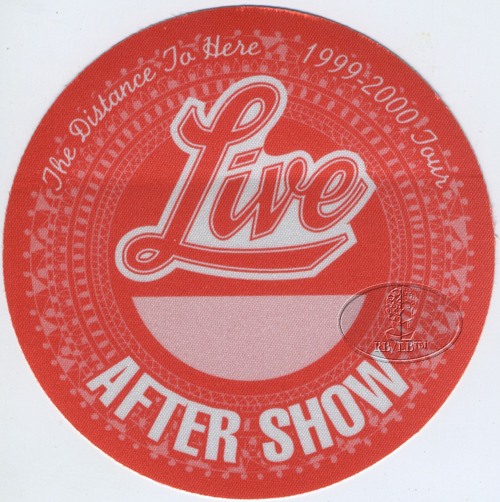 LIVE 1999 DISTANCE TO HERE Backstage Pass ASO red