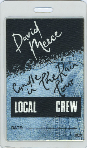 DAVID MEECE 1987 LAMINATED BACKSTAGE PASS