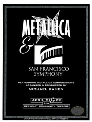 an introduction to the performance of the san francisco symphony and a rock band metallica Metallica: some kind of monster then came an over-the-top collaboration with the san francisco symphony metallica hire $40,000-a-month performance.