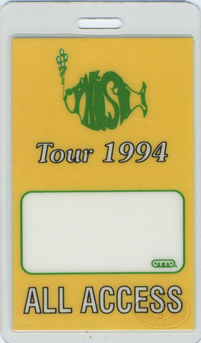 PHISH 1994 LAMINATED BACKSTAGE PASS AAA ylw