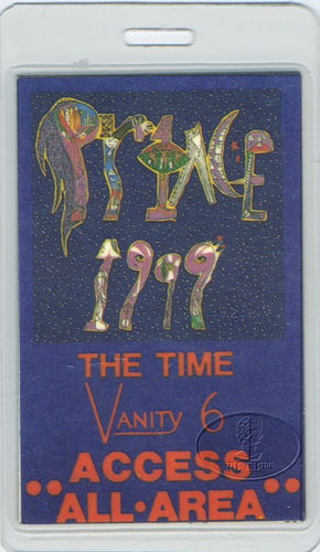 "PRINCE 1982 ""1999"" TOUR LAMINATED BACKSTAGE PASS AAA"