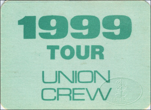 "PRINCE 1982 ""1999"" TOUR CREW BACKSTAGE PASS Crew"