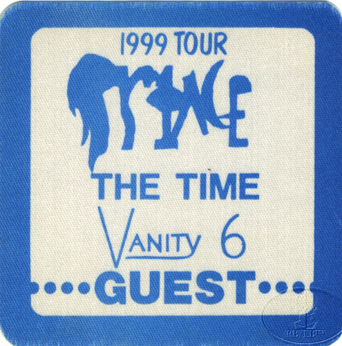 "PRINCE 1982 ""1999"" TOUR CREW BACKSTAGE PASS Guest blue"