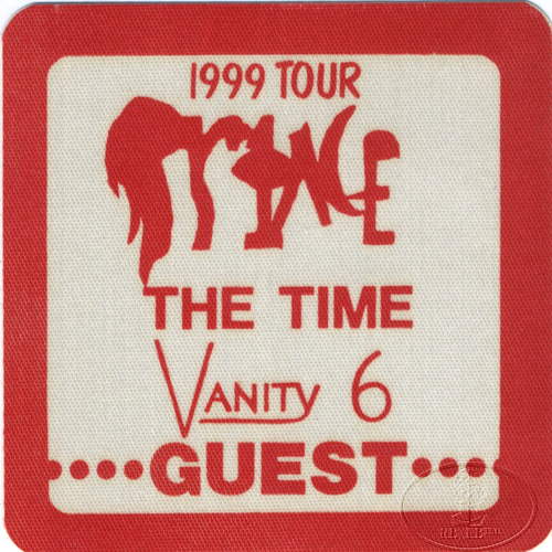 "PRINCE 1982 ""1999"" TOUR CREW BACKSTAGE PASS Guest red"