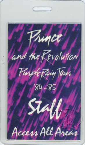 PRINCE 1984 PURPLE BACKSTAGE LAMINATED BACKSTAGE PASS