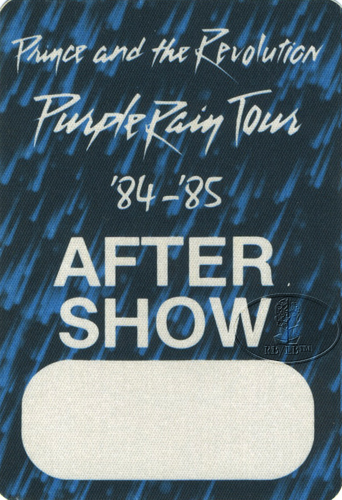 PRINCE 1984 PURPLE RAIN CREW BACKSTAGE PASS ASO blue