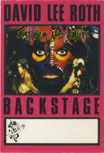 DAVID LEE ROTH 1986 BACKSTAGE PASS AA purple VAN HALEN