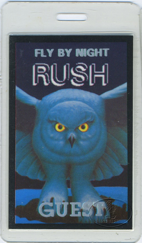 RUSH 1975 FLY BY NIGHT LAMINATED BACKSTAGE PASS