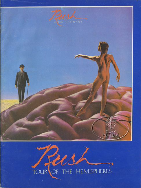 RUSH 1978-79 HEMISPHERES Tour Concert Program Programme Book
