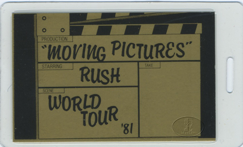 RUSH 1981 MOVING PICTURES LAMINATED BACKSTAGE PASS