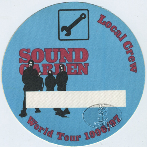 SOUNDGARDEN 1996-97 Crew Backstage Pass Blue