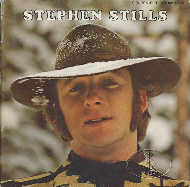 stephen stills 1971 concert program programme buffalo springfield ebay. Black Bedroom Furniture Sets. Home Design Ideas