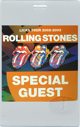 Rolling Stones 2002 2003 Licks Laminated Backstage Pass Ebay