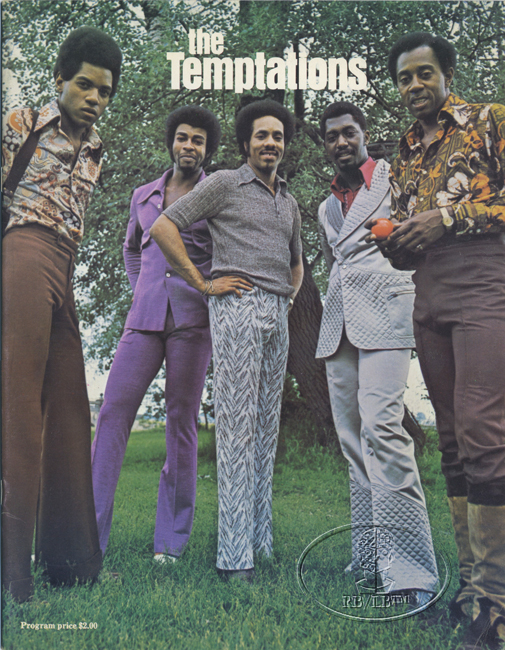 THE TEMPTATIONS 1973 TOUR CONCERT PROGRAM Programme BOOK MOTOWN
