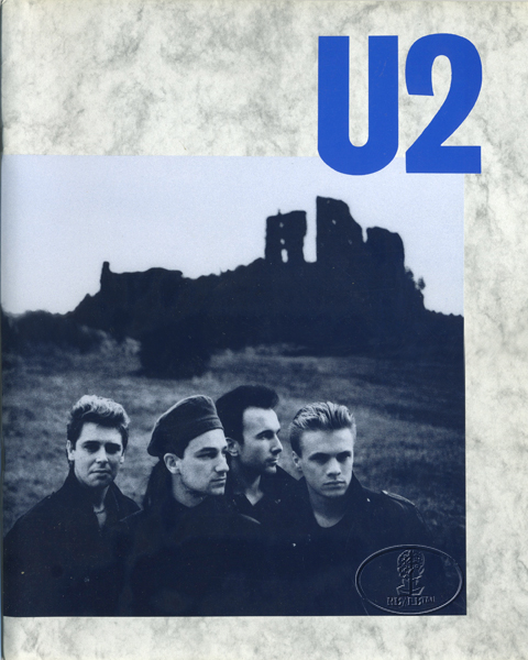 U2 1984 UNFORGETTABLE FIRE Europe/UK/USA Tour Concert Program Programme blue