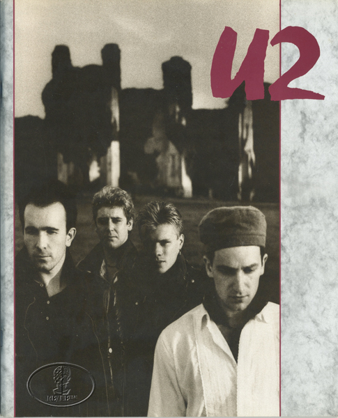 U2 1985 UNFORGETTABLE FIRE USA Tour Concert Program Programme red