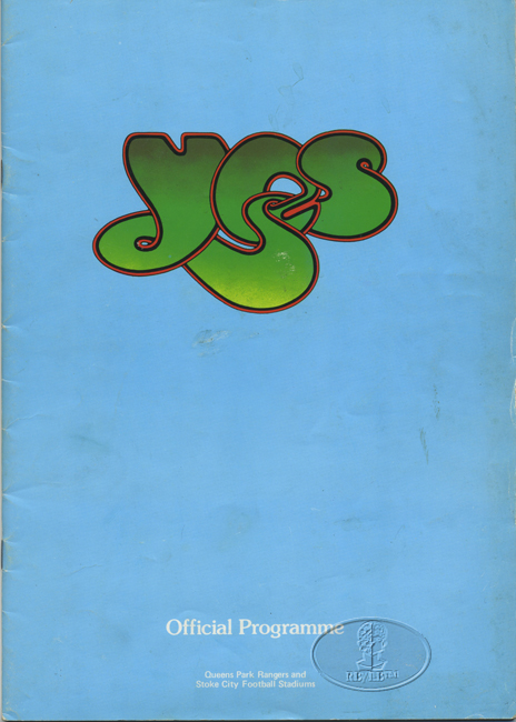 YES 1975 UK RELAYER TOUR Tour Concert Program Programme Book blue